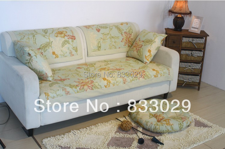 pastoral style floral sofa towel cover for one seat double