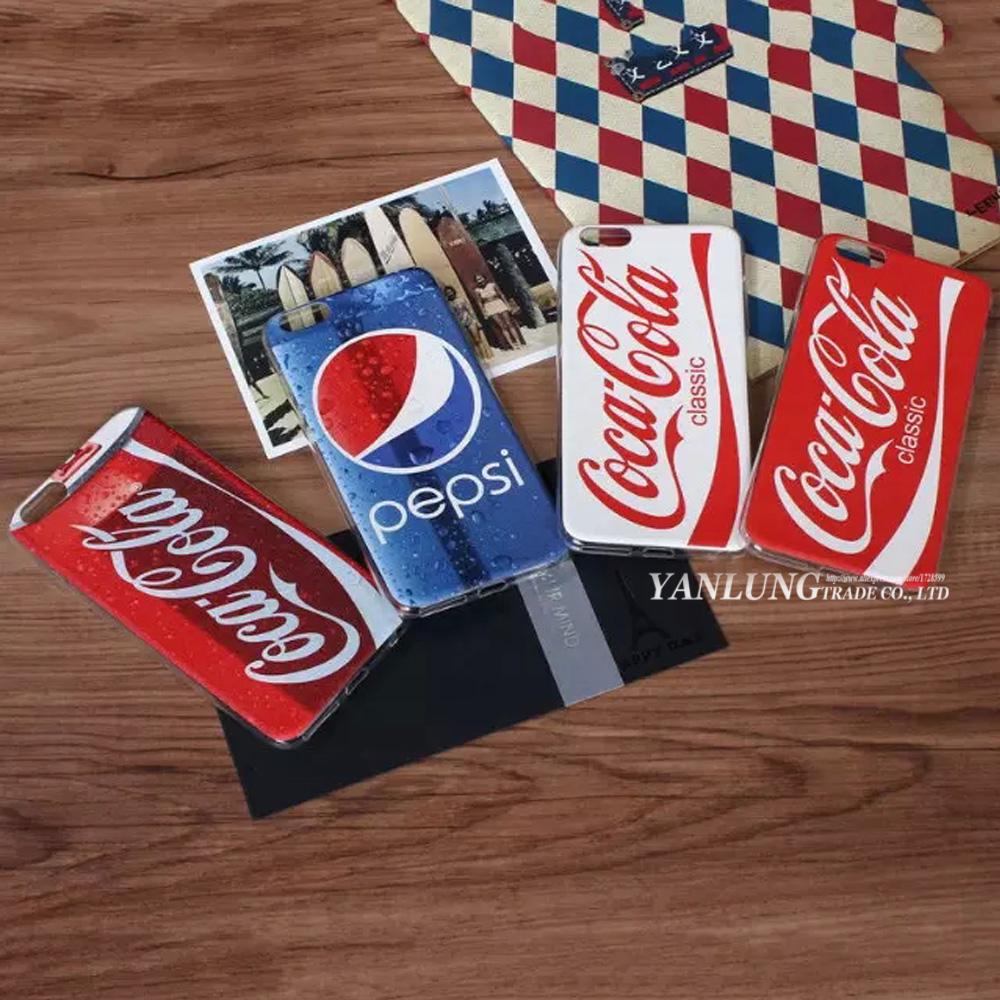 Caso for iPhone 6 6S Plus Soft Silk Leather Dermatoglyph Feel Cortex Case Vintage Coke Pepsi All Protective Cover Coque(China (Mainland))
