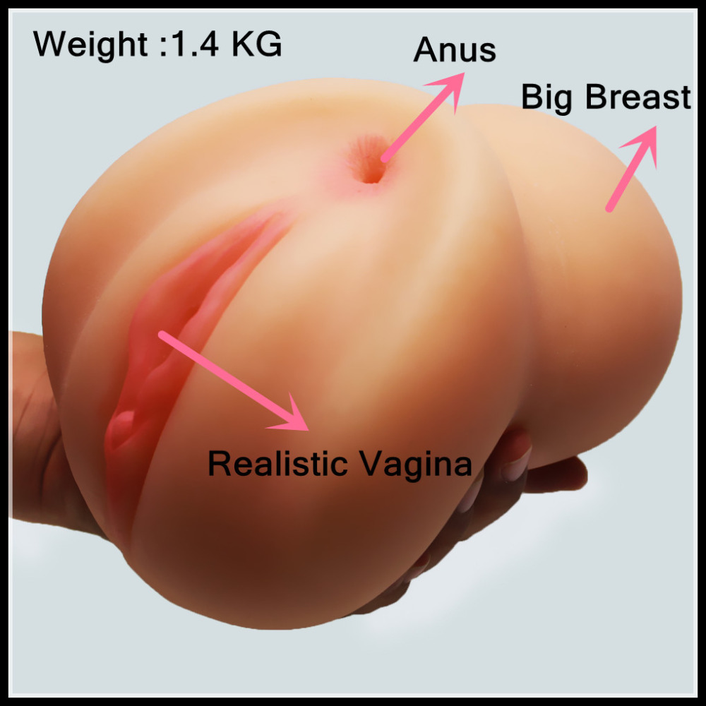 New New 1.4 kg big and realistic 3D man masturbator with anus anal vagina and big breast sex doll for man sex products<br><br>Aliexpress