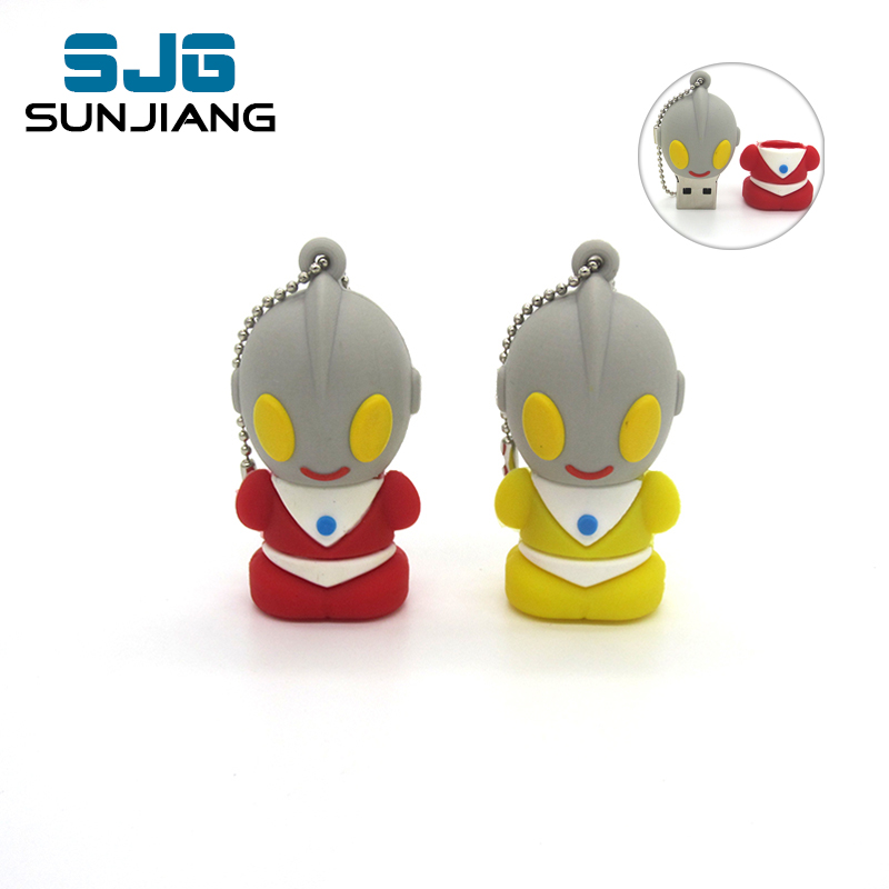 cute Pen Drive cartoon Ultraman USB Flash Drive Superman PenDrive 64G 8GB 16GB 32GB 4GB Lovely Memory Flash Stick gift for Kid(China (Mainland))