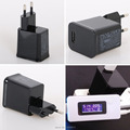 Black Travel Convenient US EU wall usb charger for Samsung Galaxy Tablet Tab 10 1 P1000