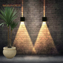 Modern Bedside 7W LED Wall Lamps Outdoor Waterproof Wall Lamp Garden Lights Living Room Light Aisle Background Stairs sconce(China (Mainland))