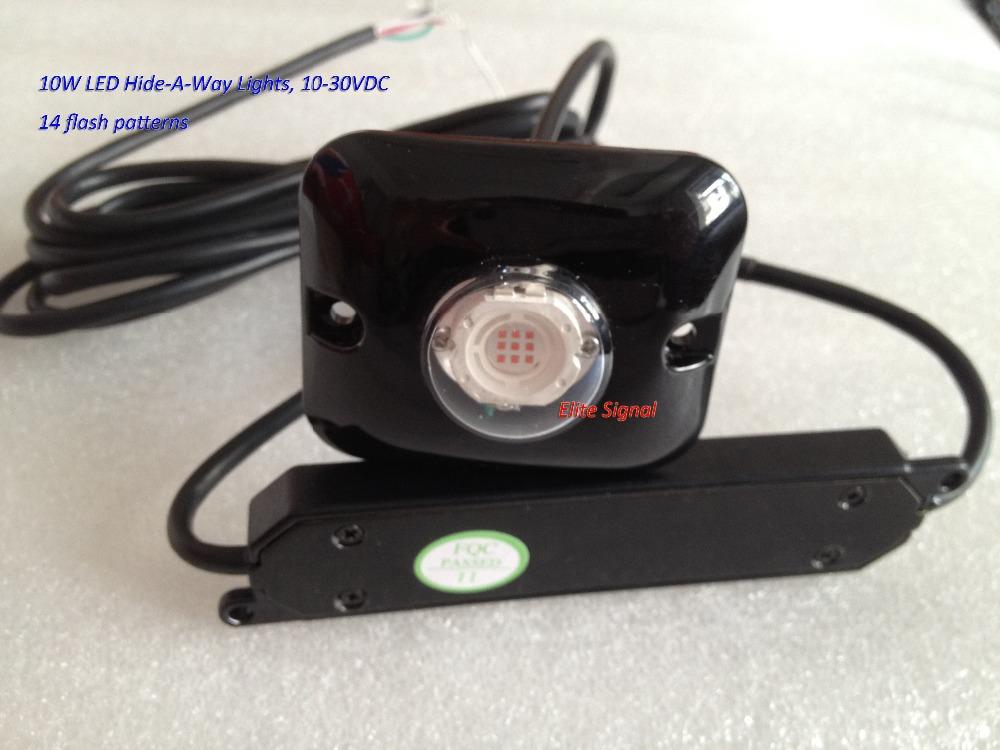 2pcs free shipping 10w led hideaway lights led car strobelight red. Black Bedroom Furniture Sets. Home Design Ideas