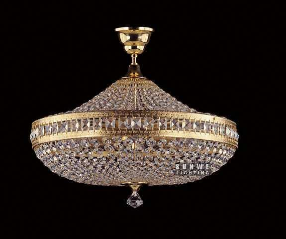 small gold crystal chandelier lighting trendy crystal