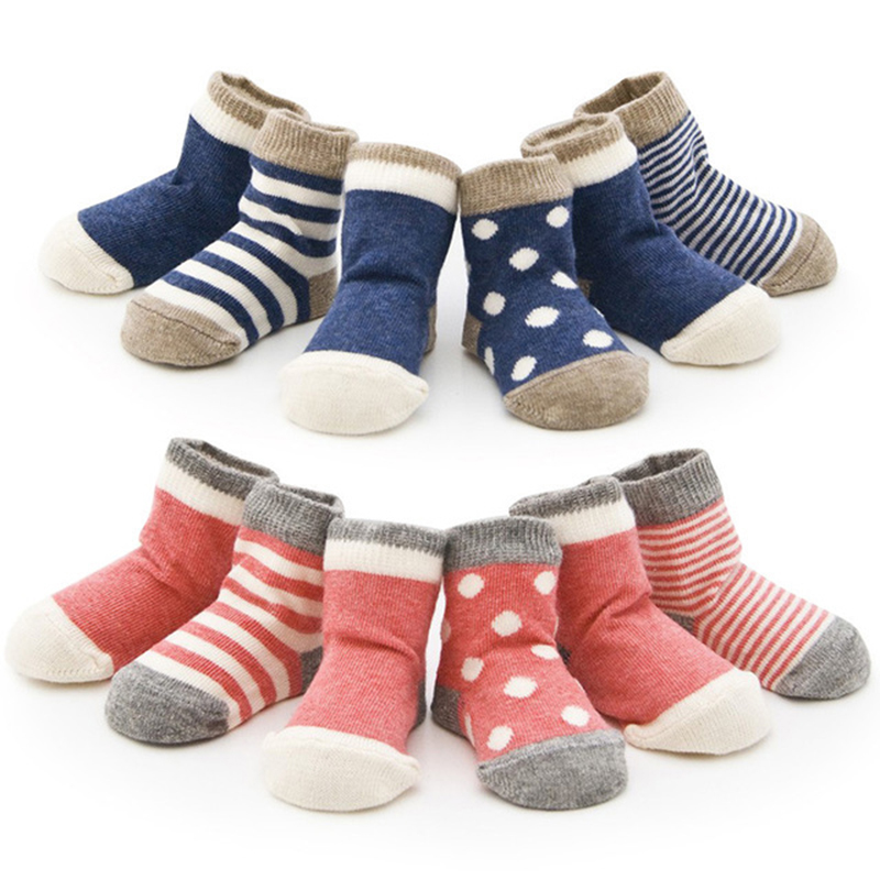 4Pairs 0-2 Years Cotton New Born Boy Girl Unisex Lovely Meias Toddler Anti Slip Floor Calcetines Promoted Baby Children's Socks(China (Mainland))