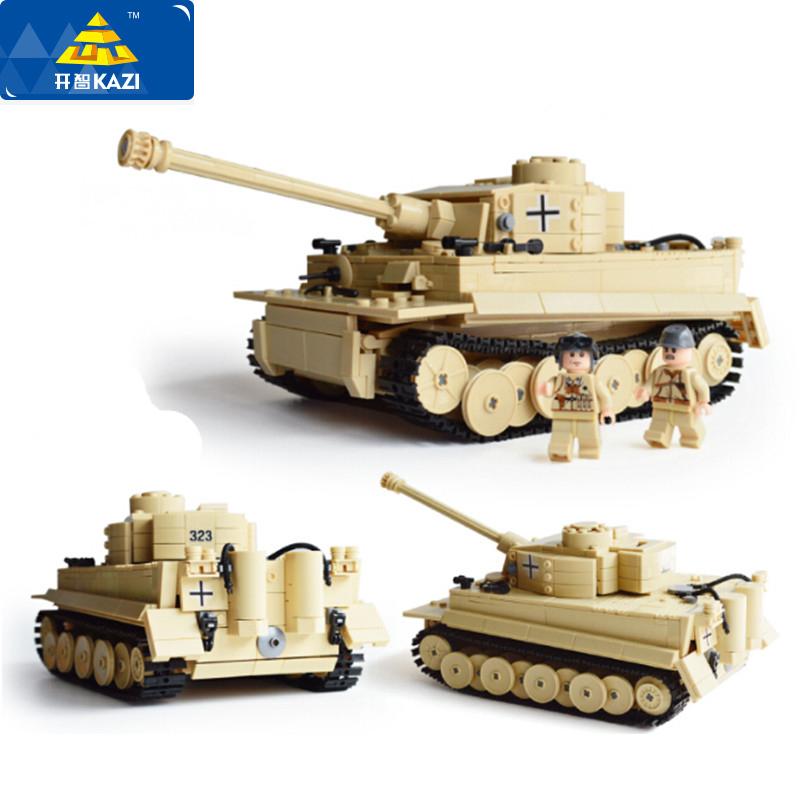 NEW- 995pcs KAZI Century Military Building Blocks German King Tiger Tank Model Enlighten Blocks Educational Toys Compatible with(China (Mainland))