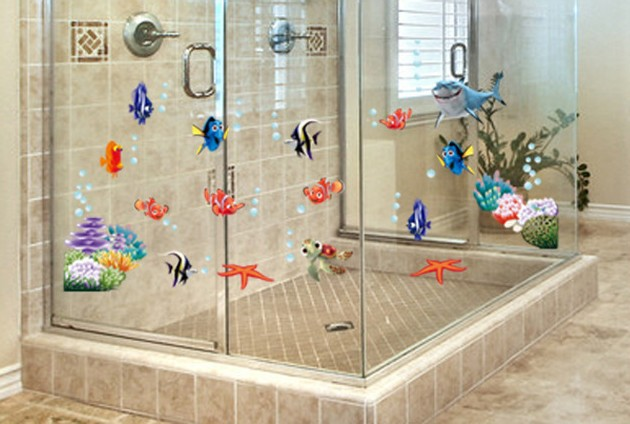 Inexpensive Bathroom Wall Decor : Aliexpress buy cheap diy cute poster nemo sea fish