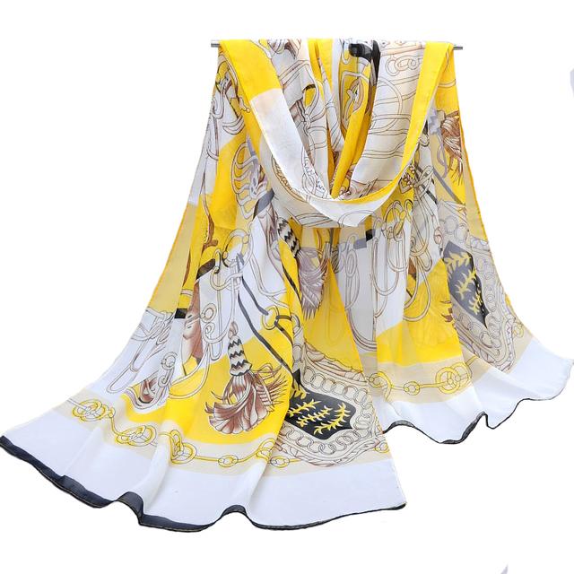 Зимы женщин шарфы 2015 Новый стиль канала шарф платок шифона печатных для женщин ...