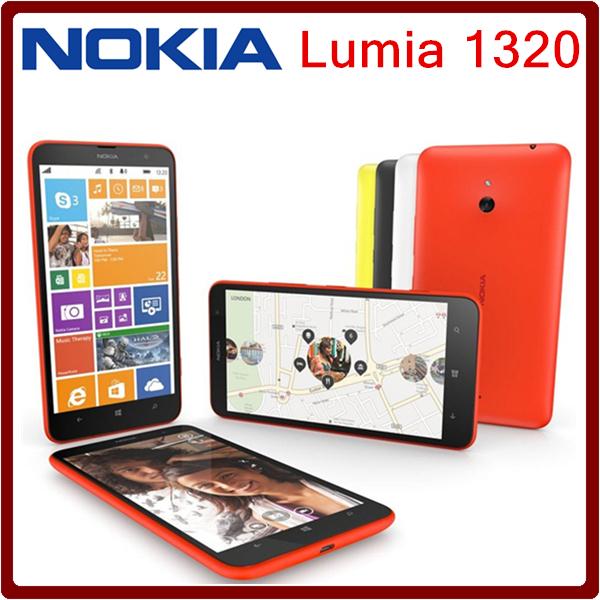 1320 Original Unlocked Nokia Lumia 1320 5MP 6.0 Inches Touch Screen 3400mAh 8GB ROM Bluetooth WIFI Free Shipping(China (Mainland))