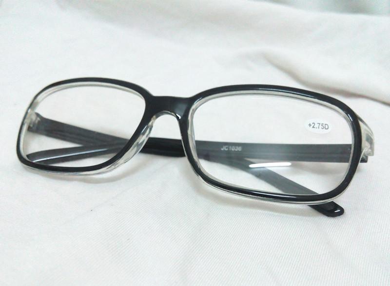 Women s Large Frame Reading Glasses : 2 PCS Black Half Transparent Big Large Square Oversize ...