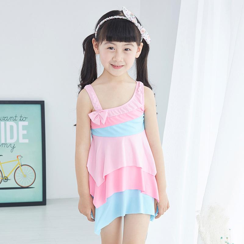 Bathingsuit For Children 2016 New Style Kids Beach Swimwear Baby Girls Swimming Clothes Children Bikini One Piece Cute Biquini(China (Mainland))