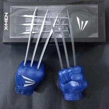 Marvel Anime figure Wolverine PVC Action Figure X-MEN 1:1 Wolf Gloves Boy toys Cosplay RETAIL BOX 2 PCS/SET JK-0096