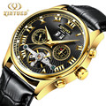 New Mens watches Automatic mechanical watch tourbillon clock leather Casual business wristwatch relojes hombre top brand