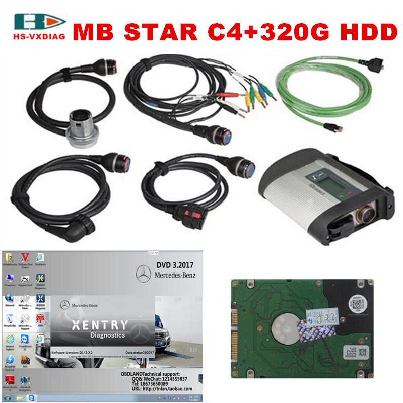 2017.03 MB Star SD C4 full set 21 languages NEW MB Star C4 SD connect C4 diagnosis compact 4 dianostic tool with CF-30 Toughbook