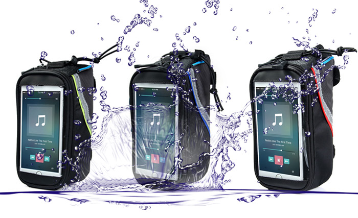 Roswheel Bike Touch Screen 4.8 inch Saddle Bag Holder Phone Pocket Riding Cycling Supplies