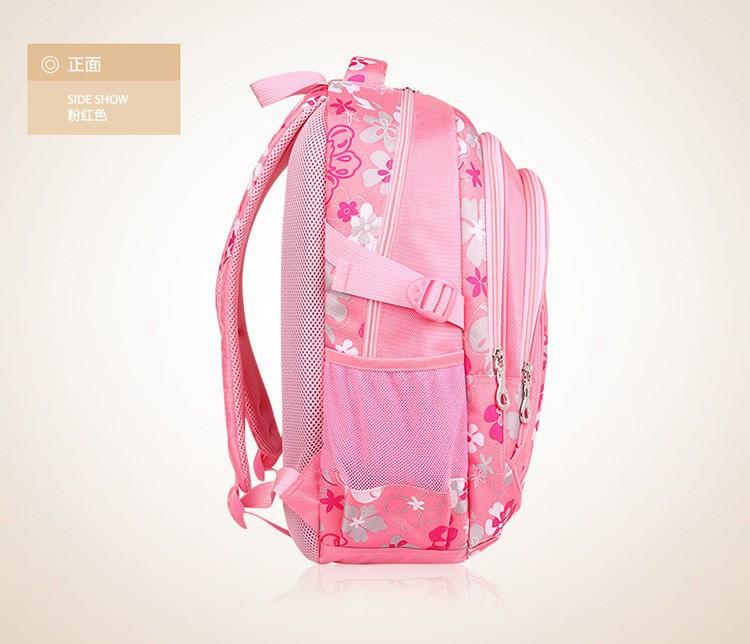 Hot Sales Fashion Flowers Korea Style Nylon Kid Backpacks Lovely Girl