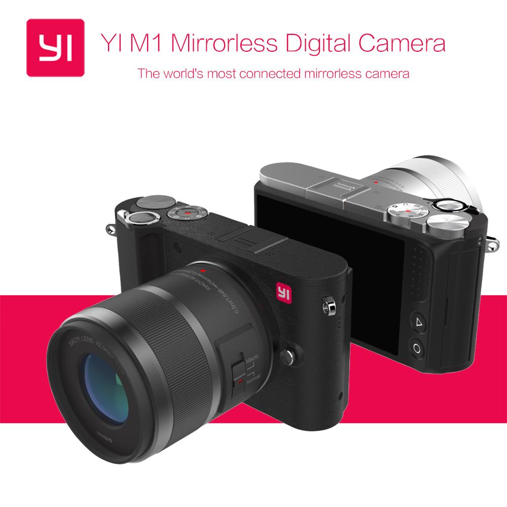 Free EMS Shipping International Version Original YI M1 Mirrorless Digital Camera With YI 12-40mm F3.5-5.6 Lens/42.5mm F1.8 Lens(China (Mainland))