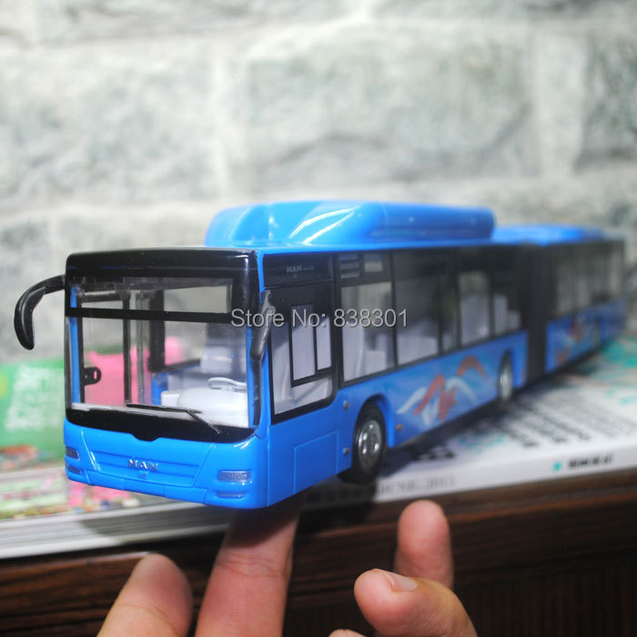 3pcs/pack Free Shipping Wholesale Cool 1/43 Scale Germany MAN City Express Long Bus Friction Power Diecast ABS Car Model Toy(China (Mainland))