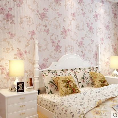 de parede 3d para quarto sala floral non woven bedroom soundproof