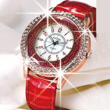Hot Luxury Brand Diamond Orologio Donna Fashion Rhinestone Watch Women Casual Leather Clock Female Quartz Ladies Wristwatch 0191
