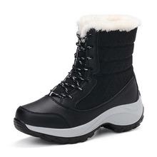 Wikileaks Mujeres Nieve Botas Cálidas Botas de Invierno de Plataforma de Fondo Grueso Botas Impermeables Del Tobillo Mujeres de Piel Gruesa de Algodón, Además de Zapatos de Tamaño(China (Mainland))