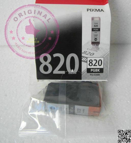 Free- ship CAN PGI-820BK 2Pces original ink cartridge QY6-0073 IP3680 IP4680 IP4760 MP638 MP558 MP568 MP648 Economical Practical(China (Mainland))