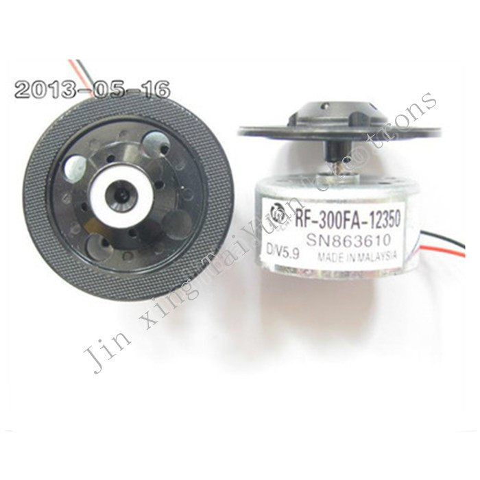 30PCS/Lot Mabuchi RF-300FA-12350 DC 5.9V Spindle Motor with Disk Holder Tray for CD DVD DV34 Mechanism ship with tracking number(China (Mainland))