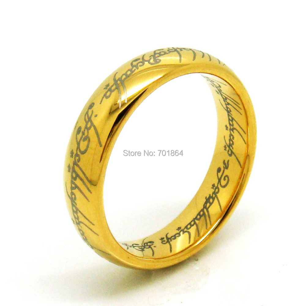 Free Shipping US Size 5 to13 The Tungsten Carbide One Ring of Power Width 6mm Gold / Silver / Black(China (Mainland))