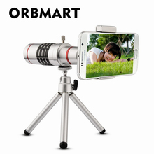 Buy Orbmart Universal 18X Zoom Optical Telescope Mini Tripod Samsung iPhone Xiaomi Redmi Note Meizu Mobile Phone Lenses for $27.60 in AliExpress store