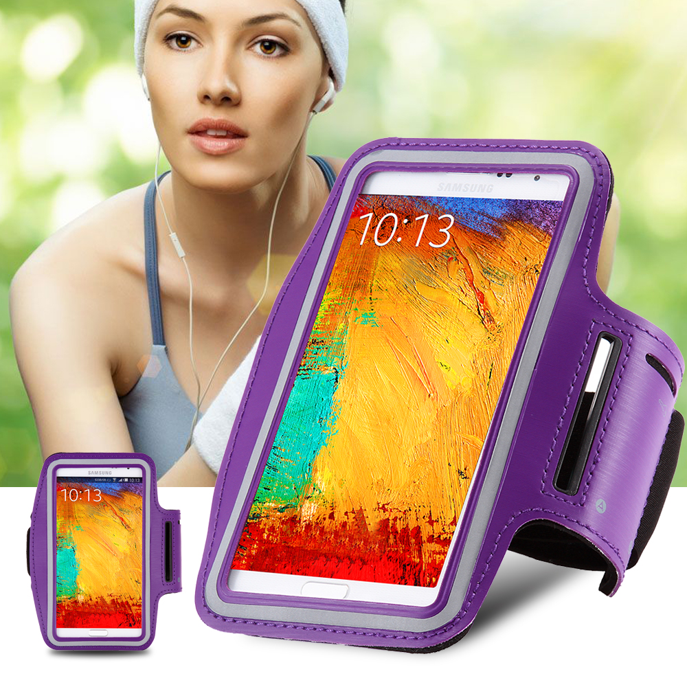 Universal Workout Running Arm Band Phone Holder Case For Samsung Galaxy Note 5 4 3 2 S4 S6 Edge Waterproof Leather Cover Hoesje(China (Mainland))