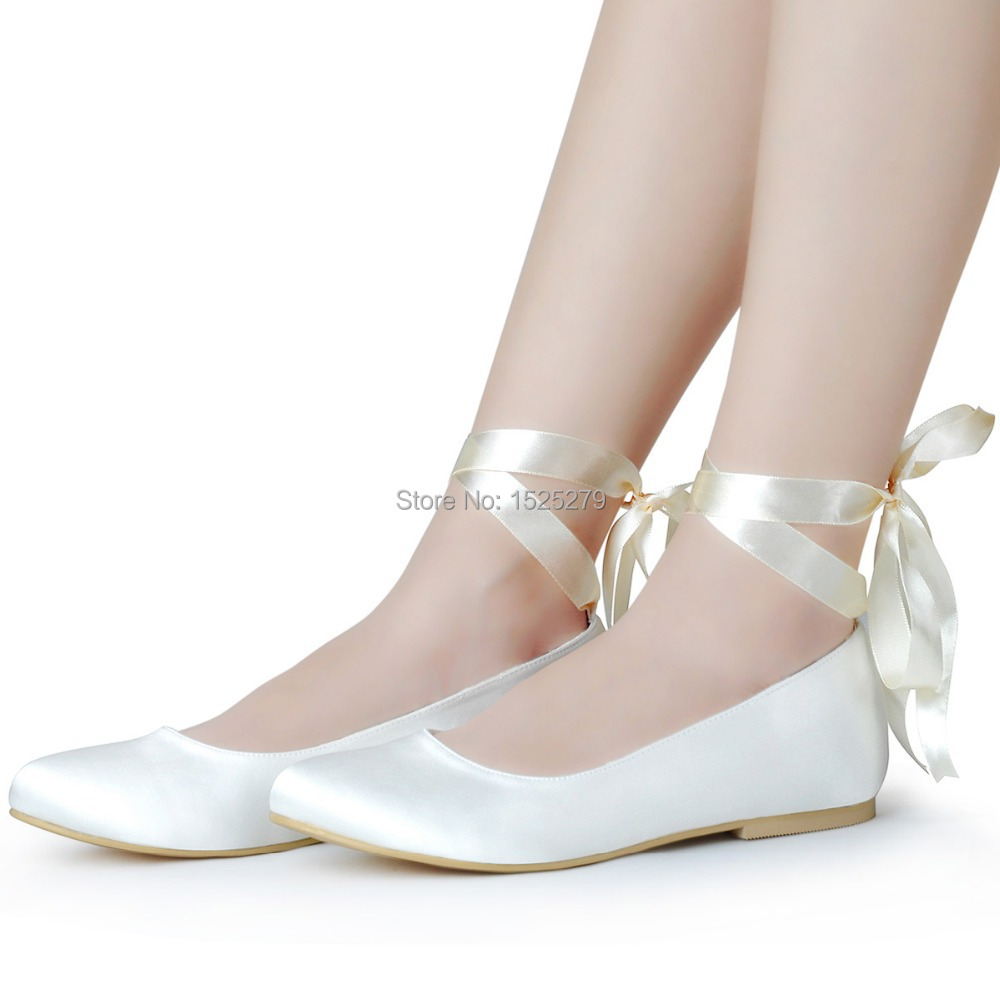 Wedding Table Lace Ballet Flats lace up ballet flats wedding gommap blog ep11105 ivory white women shoes bridal party round toe comfortable ribbons satin