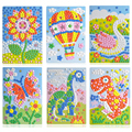 24 styles can be choose Lot 3D Mosaics Creative Sticker Game AnimalsTransport Arts Craft Puzzle for