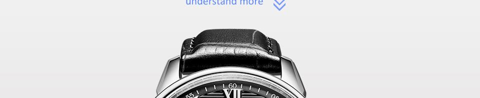 Men Watch BUREI Top Fashion Brand Male Hour Calendar Display Genuine Leather Strap Waterproof Quartz Wristwatches Gift Hot Sale