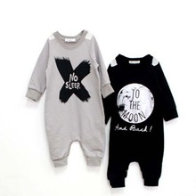 Baby Boys Girls Rompers NO SLEEP Infant Girl Boy Romper For Children Toddler Long Sleeve Jumpsuit Clothing(China (Mainland))