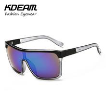 KDEAM See-through Frame Sport Mens Sunglasses Brand Design Steampunk Googles For 2016 Summer oculos de sol masculino KD82J