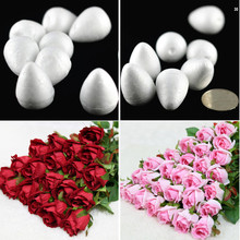 New Home Decor Wreaths 100pcs/lot Natural White Foam Rose Bud For Nylon Stocking Flower Accessories Decorative Flowers(China (Mainland))