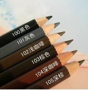 6colors/lot 18 cm Eye Make Up Eyeliner Waterproof Eyebrow Pencil Beauty Pen Eye Brow Cosmetics Eyes Makeup Dark Brown