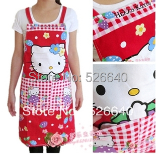 2014Wholesale shop Cook kitchen cooking funny apron logo novelty Aprons with pockets for woman Princess canvas fashion work wear(China (Mainland))