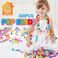 MiniTudou 300pcs Pop Beads Toys Snap Together Jewelry Fashion Kit DIY Educational Kid s Toy Craft