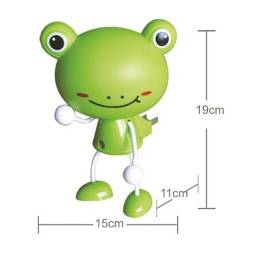 3D Frog LED Decoration Photoreceptor NightLight Bedside Lamp Bedside Lamp Room Sleeping Cartoon Decorate Night Light Gift(China (Mainland))