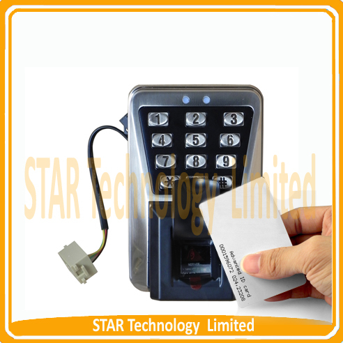 Waterproof Outer Door Access Control System with Fingerprint and Id Card Recognition<br><br>Aliexpress