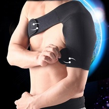 adjustable neoprene men sports boxing belt bandage support weight lifting back support basketball shoulder pad brace protector(China (Mainland))