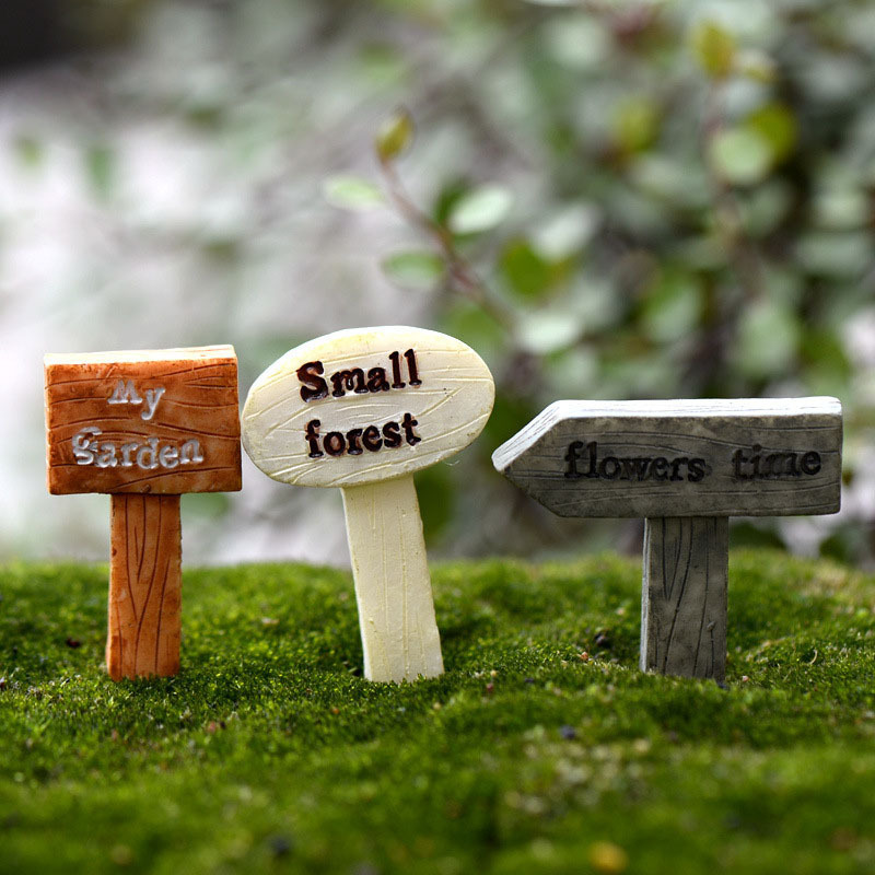 Mini Sign Post Micro Landscaping Decoration Small Plastic Craft DIY Sand Table Accessories K6714(China (Mainland))