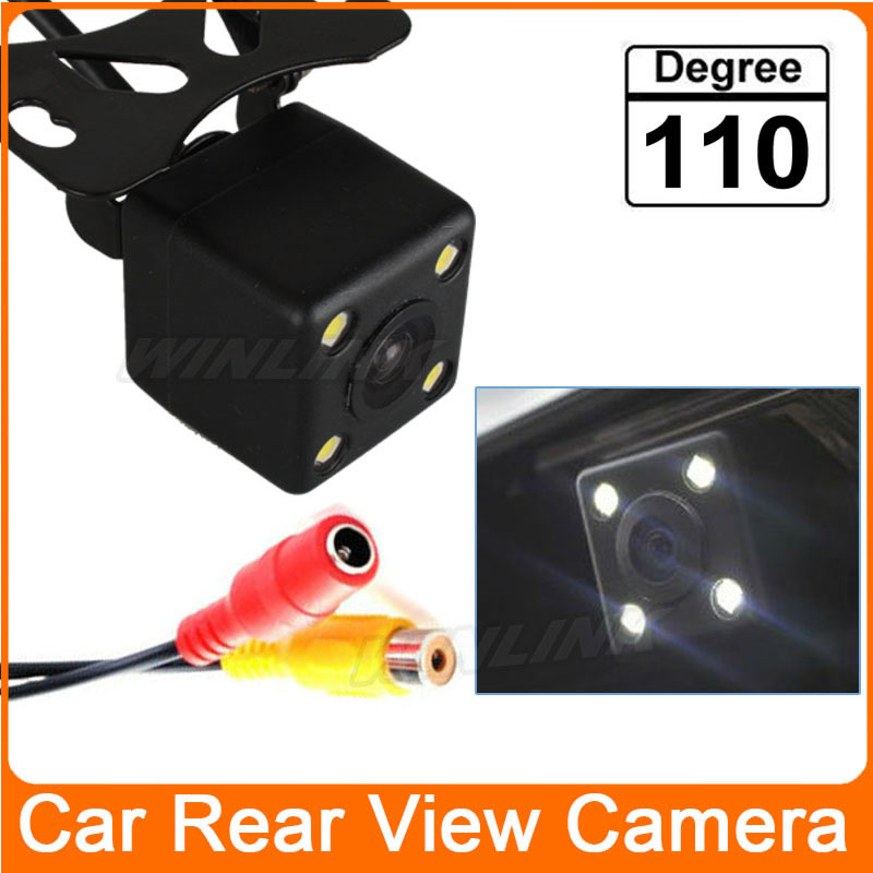 110 Degree Waterproof 4 LED Night Vision Car CCD Rear View Camera Parking Assistance system For