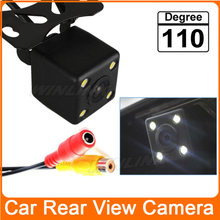Free Shipping 170 Degree Waterproof 4 LED Night Vision Car CCD Rear View Camera Parking Assistance system For Monitor