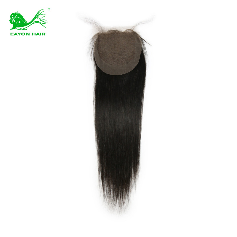 Здесь можно купить  6A 4*4 Virgin Peruvian straight lace closure bleached knots unprocessed human hair free/middle/3 part closures  Волосы и аксессуары