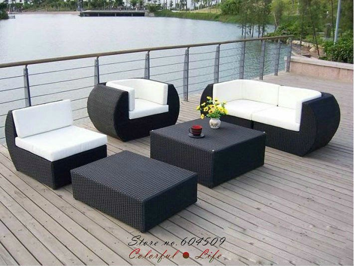 Top Sale PE rattan outdoor furniture Garden Sofa,YSF-N092,OEM(China (Mainland))