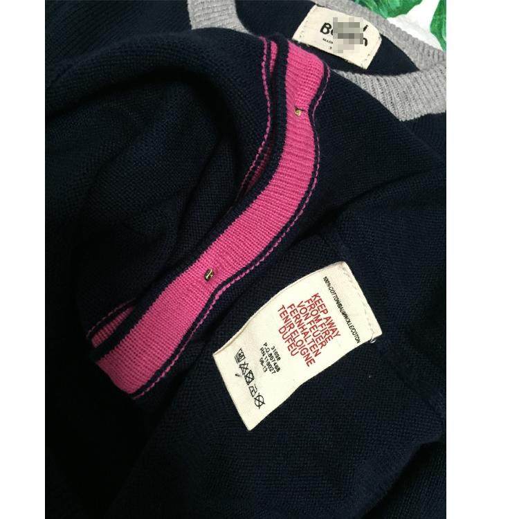 Скидки на 2016 Весна Осень детская Одежда Ребенка С Длинными Рукавами Хлопок Девушки Кардиган Свитера Дети Sweatercoat