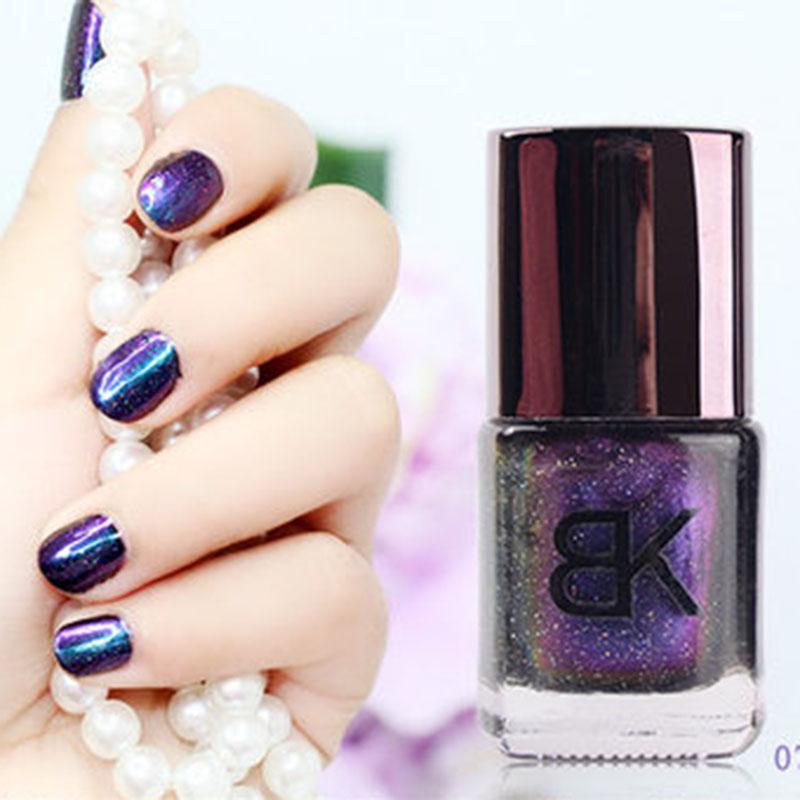 Black Holographic Glitter Nail Polish: 1Pcs 8ml Black Starry Sky Holographic Nail Polish Brand BK