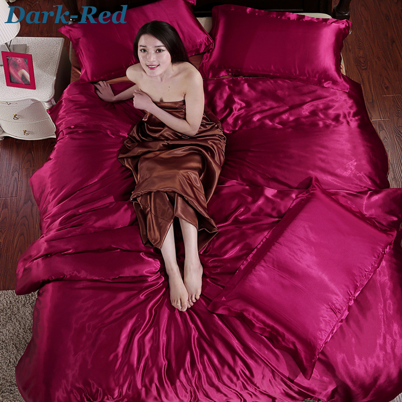 100 Pure Silk Bedding Sets 4pcs Family Bed Linen Hot Sale